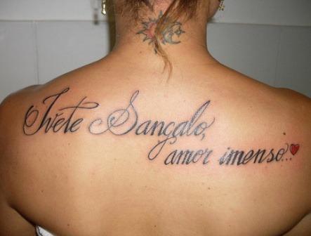 Fotos de tatuagens femininas frases