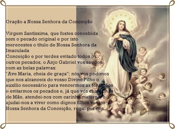 Oração Da Noite Nossa Senhora Aparecida Rogai Por Nós: Oração De Nossa Senhora Imaculada Conceição