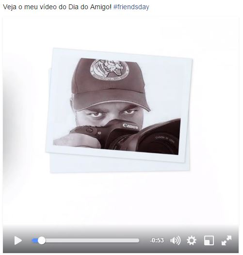 Quando completar a edição compartilhe o vídeo no Facebook (Foto: Reprodução/Jefferson Allan)