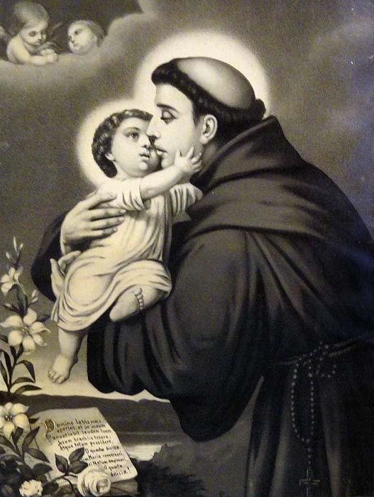 Foto Reprodução Aparição do Menino Jesus ao santo
