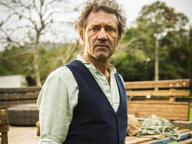 Domingos Montagner como o Santo, da novela 'Velho Chico' (Foto: João Miguel Júnior/TV Globo)