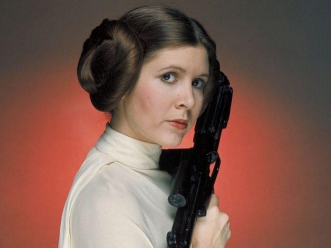 """Carrie Fisher como a icônica Princesa Leia na saga """"Star Wars"""" imagem: Divulgação"""