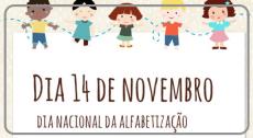 Dia 14 de Novembro dia Nacional da Alfabetização
